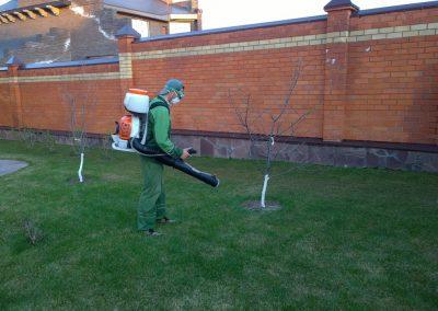 Опрыскивание пестицидами садового участка, коттеджный посёлок «Вороновка»