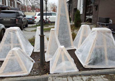 Укрытие растений на зиму, изготовление каркасов, Казань