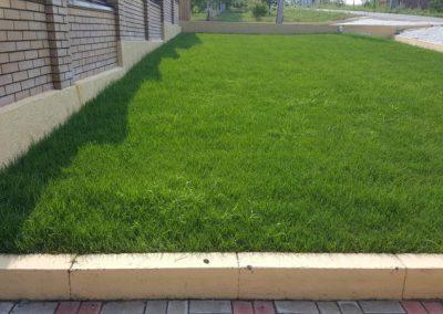 Обработка газона от сорняков на участке Введенская слобода