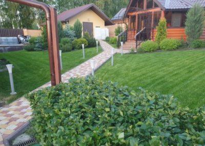 Введенская Слобода —  стрижка газона и стрижка кустов